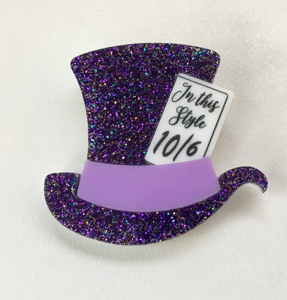 Mad Hatter's Hat Brooch