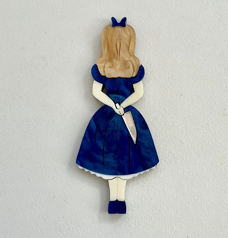 Royal Blue Stabby Alice Brooch