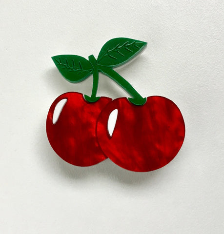 Chaste Cherries Brooch - Limited Edition Colourway