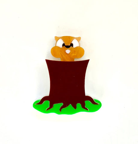 Gary the Gopher Brooch