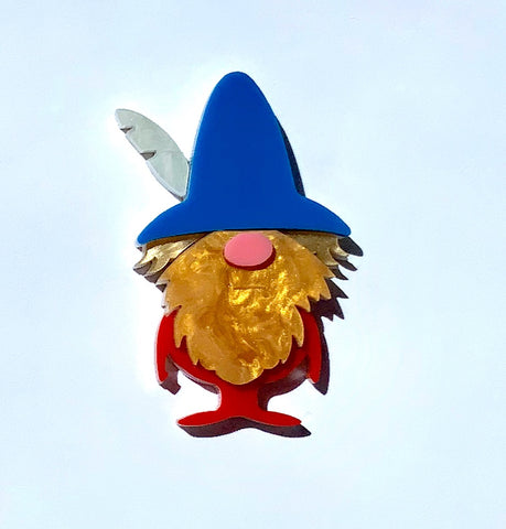 Barry the Gnome Brooch