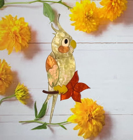 Cheeky Cockatiel Brooch