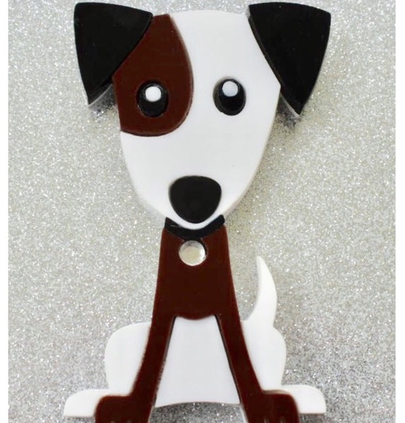 Jesse the Jack Russell Brooch