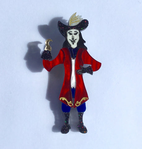 Captain Hook Brooch