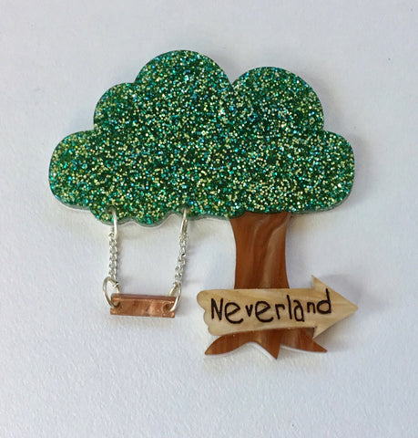Neverland This Way Brooch