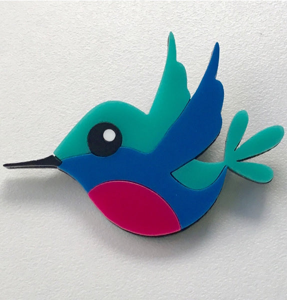 Harriet the Hummingbird Brooch