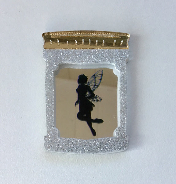 Fairy in a Jar Brooch