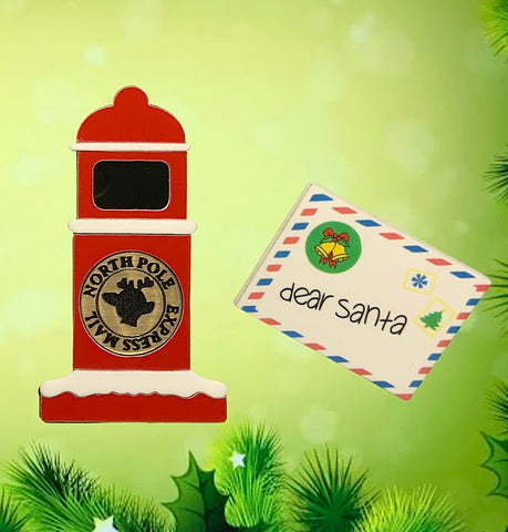 Letters to Santa Brooch Set