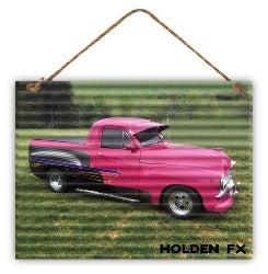 Sign - Corrugated Pink Holden Fx - Rosie's Gift Shop & Homewares
