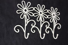 Wall Hooks -3 Daisy - Cream - Rosie's Gifts and Homeware