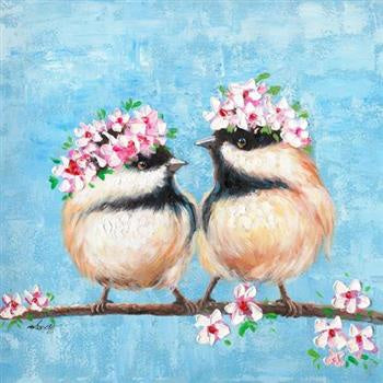 Canvas - Wreath Wrens