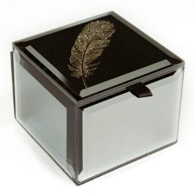 Bling Mini Trinket Box - Feather - Rosie's Gift Shop & Homeware