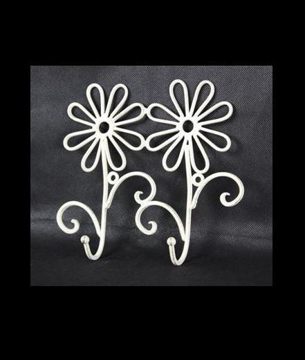 Wall Hooks -2 Daisy - Cream - Rosie's Gifts and Homeware