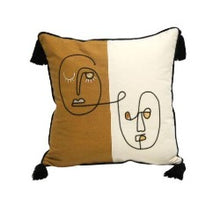 Stoneleigh & Roberson Cushion - White/Mustard- Rsies gifts and homewares