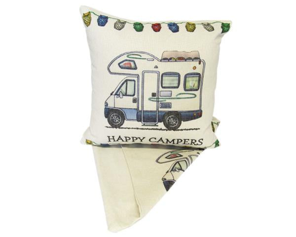 Happy Campers Cushion - Campervan