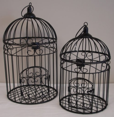 Metal Bird Cage - Black - Small - Rosie's Gifts and Homeware