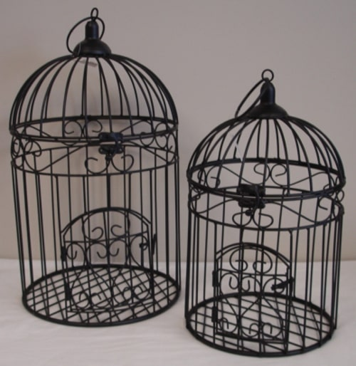 Metal Bird Cage - Black - Large - Rosie's Gifts and Homeware