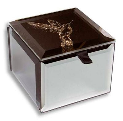 Bling Mini Trinket Box Hummingbird