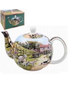 Teapot - Farmyard - Collie & Sheep - rosies gifts and homeware