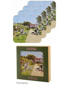 Coaster 6pk- Farmyard- rosies gifts and homeware
