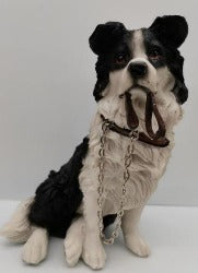 Ornament - Collie Dog Sitting with Lead - Rosie's Gift Shop and Homeware
