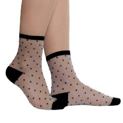 Socks - Black/dotty -  Rosie's Gift Shop and HomewarE - Womens Fashion