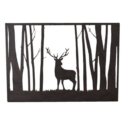 Wall Art- Metal -  Stag in the Forest - Rosie's Gifts and Homeware