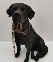 Ornament - Black Lab with Lead - Rosie's Gift Shop and Homeware