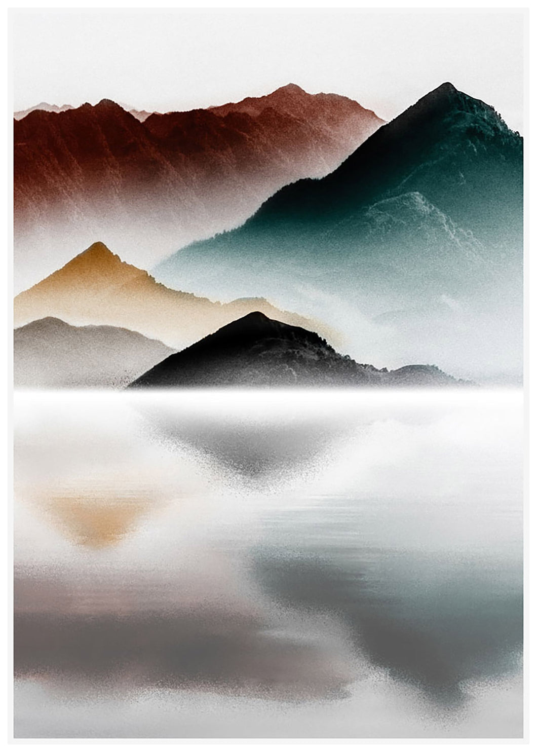 Canvas Print - Reflective Peaks - Rosie's Gifts and Homeware - Gift Shop NZ