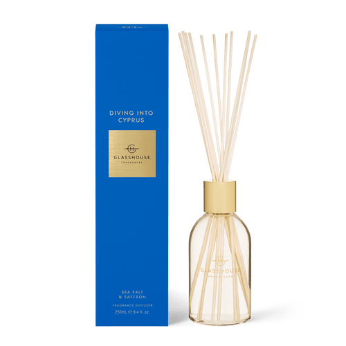 Glasshouse Fragrances - Diffuser - DIVING INTO CYPRUS - Rosies Gifts