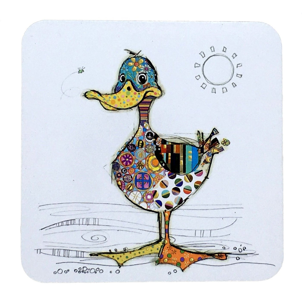 Bug Art Coaster - Dotty Duck- rosies gifts nz