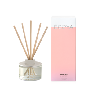Ecoya Mini Diffuser - Sweet Pea and Jasmine 50ml - Rosie's Gifts and Homeware