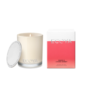 Ecoya Mini Madison Candle - Guava & Lychee - Rosie's Gifts and Homeware