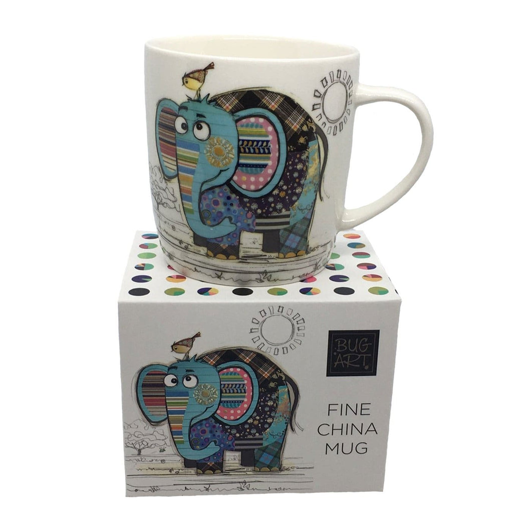 Bug Art Mug- Eric Elephant- rosies gift shop