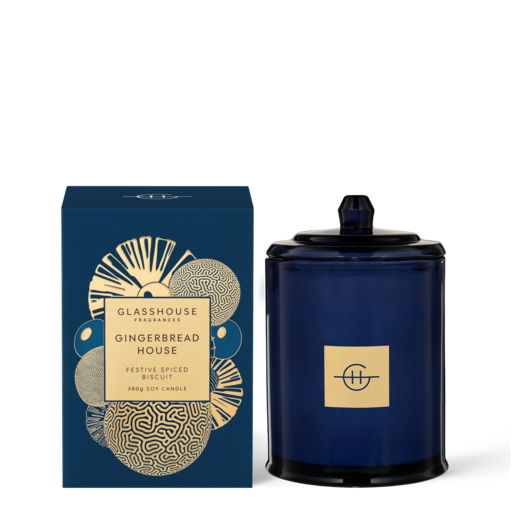 Glasshouse Fragrances - 380g Candle -GINGERBREAD HOUSE - Rosie's Gifts