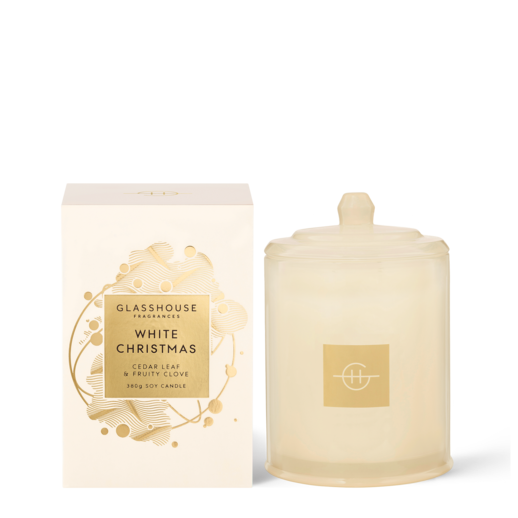 Glasshouse Fragrances - 380g Candle - WHITE CHRISTMAS - Rosie's Gifts