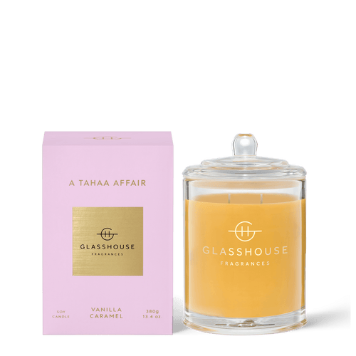 Glasshouse Fragrances-Soy Candle 380g - A TAHAA AFFAIR -Rosie's Gifts