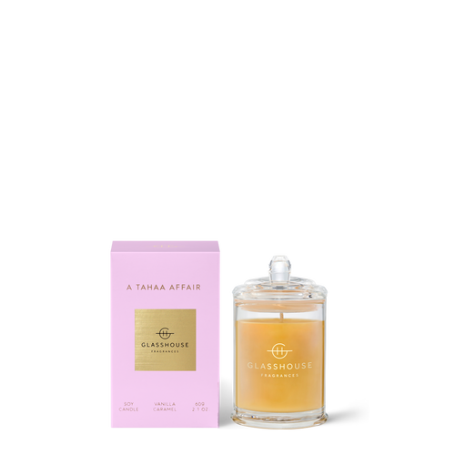 Glasshouse Fragrances- Soy Candle 60g -A TAHAA AFFAIR