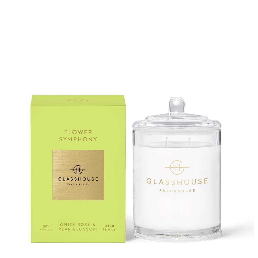\Glasshouse Fragrances- Soy Candle 380g - FLOWER SYMPHONY - Rosie's Gifts and Homeware