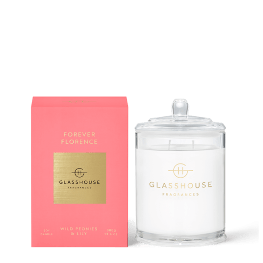 Glasshouse Fragrances-Soy Candle 380g - FOREVER FLORENCE-Rosie's Gifts
