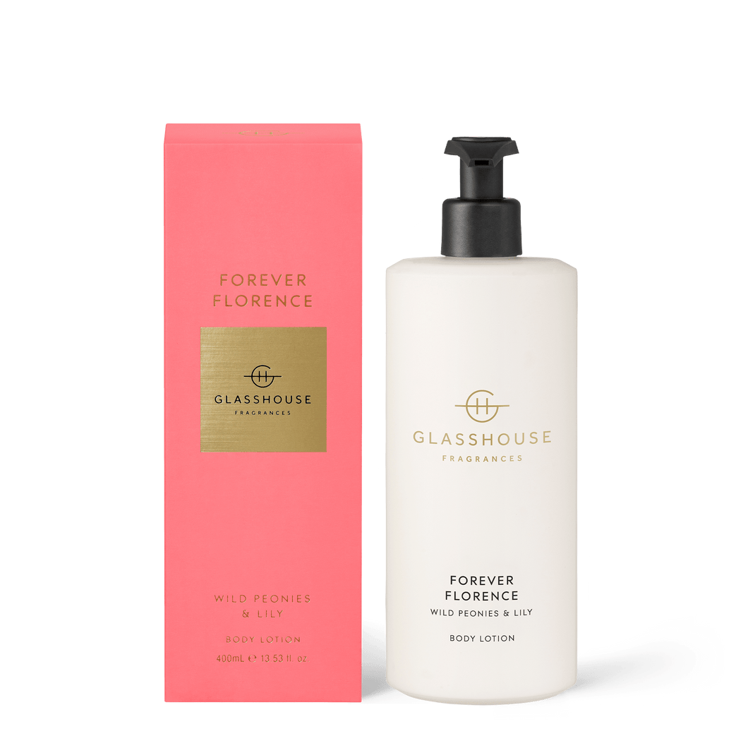 Glasshouse Fragrances- Body Lotion 400ml - FOREVER FLORENCE - Rosies Gifts