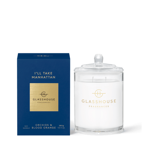 Glasshouse Fragrances- Soy Candle 380g - I'LL TAKE MANHATTAN - Rosie's Gifts and Homeware
