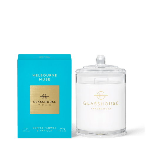 Glasshouse Fragrances-Soy Candle 380g - MELBOURNE MUSE -Rosie's Gifts