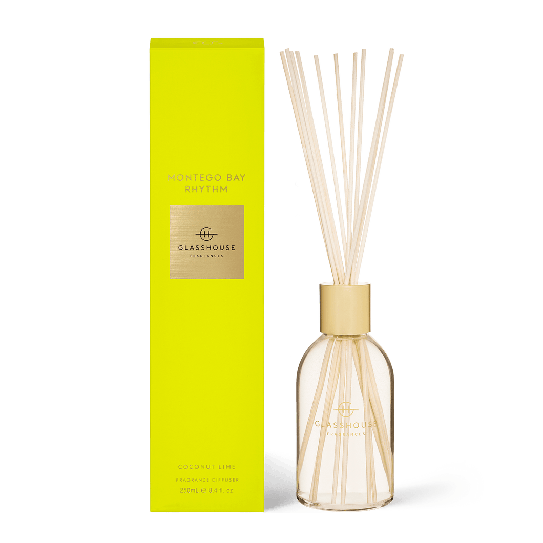 Glasshouse Fragrances - Diffuser - MONTEGO BAY RHYTHM - Rosies Gifts