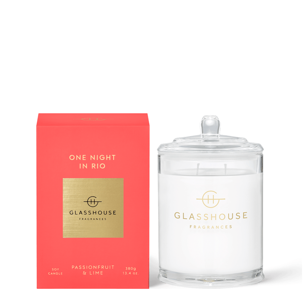 Soy Candle 380g - ONE NIGHT IN RIO - Rosie's Gifts and Homeware
