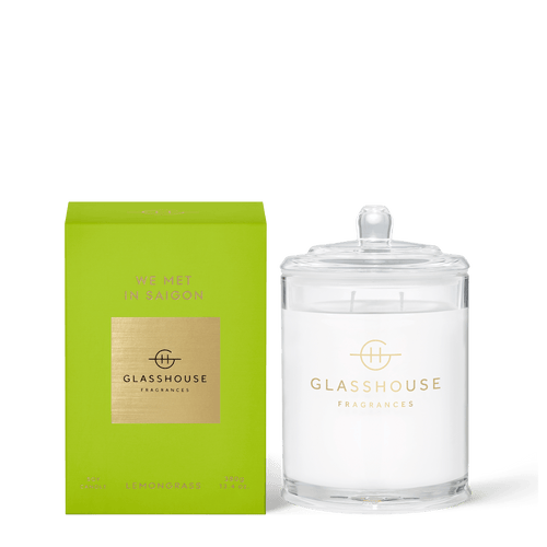 Glasshouse Fragrances- Soy Candle 380g - WE MET IN SAIGON - Rosie's Gifts and Homeware