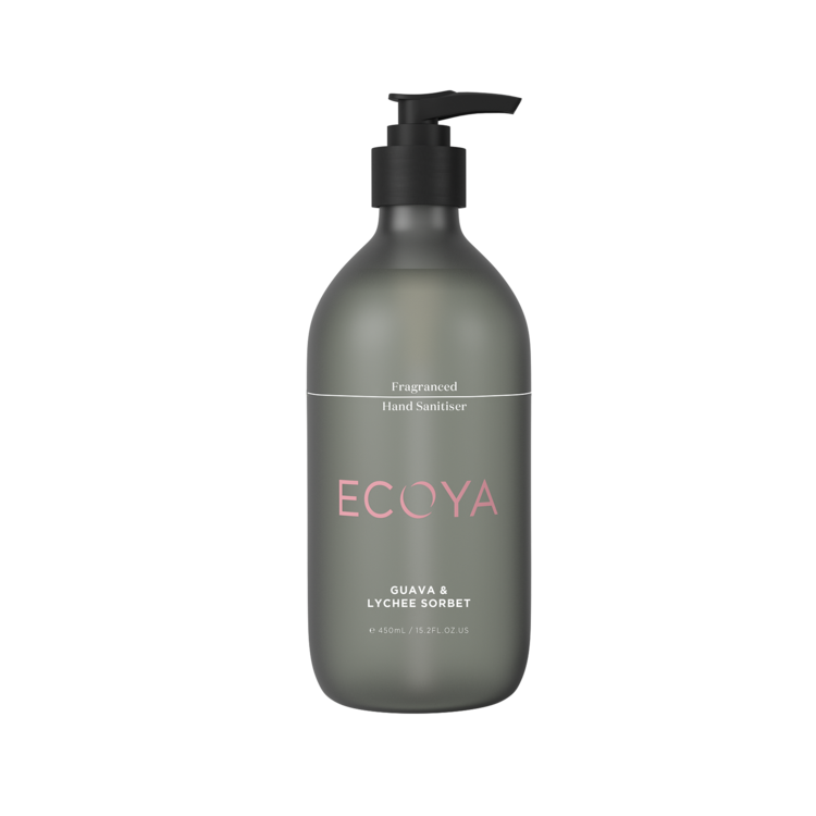 Ecoya Fragranced Hand Sanitizer - Guava & Lychee - Rosie's Gifts and Homeware