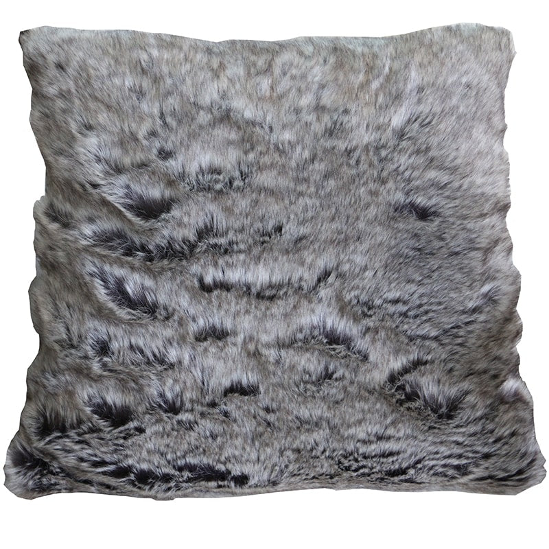 Cushion - Faux Fur - Slate - Rosie's Gifts and Homeware - Gift Shop NZ