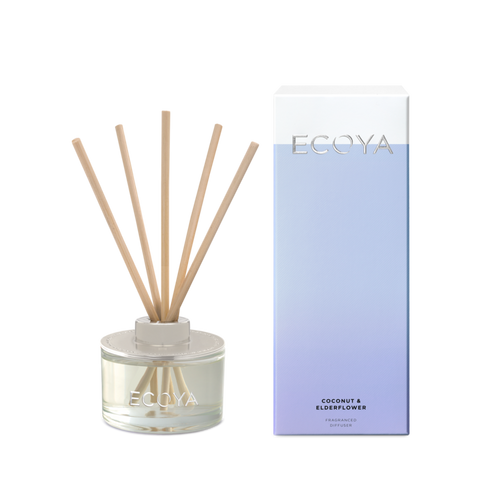 Ecoya Mini Diffuser - Coconut & Elderflower 50ml - Rosie's Gifts and Homeware