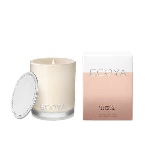 Ecoya Mini Madison Candle - Cedarwood & Leather- rosies gifts and homeware